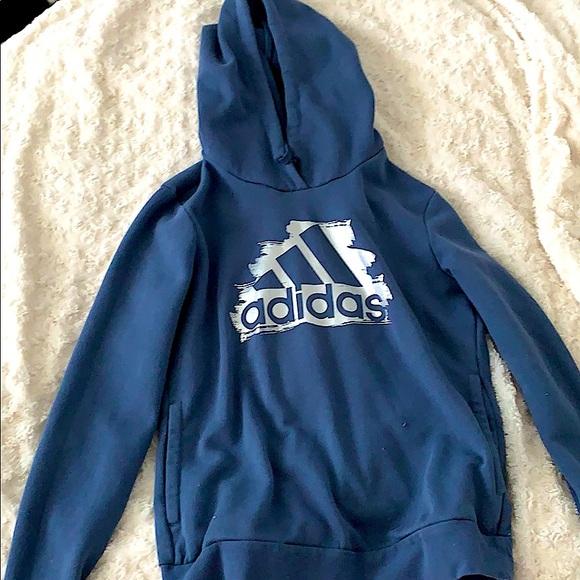 women's blue adidas hoodie